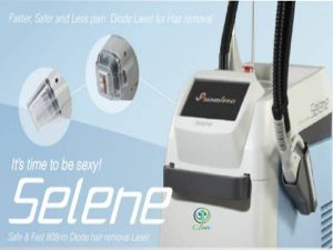 """SELENE Laser Type DIODE(808nm) Screen Touch Screen 10.2"""" LCD Fluence Up to 4~120J/cm2 Spot Size 12mm x 24mm Vacuum Spot Size 24mm x 35mm Cooling Type Air type less than -20°C Contact cooling type : keep 3°C Pulse Width Up to 422ms Pulse Repetition Rate Up to 12Hz Electrical requirements 220V 50/60Hz 3k VA Dimensions(mm) 470(W) x 350(L) x 890(H) 75kg"""