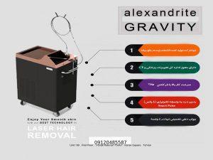 دستگاه لیزر الکساندرایت GRAVITY